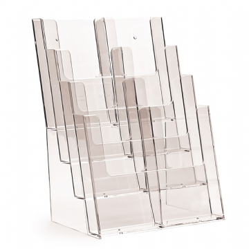 4C230 | 4 Pocket A4 Portrait Leaflet Holder - supplied with optional pocket dividers